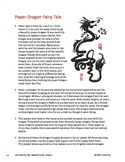 Paper Dragon Fairy Tale - Literary Text Test Prep