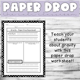 Paper Drop Worksheet