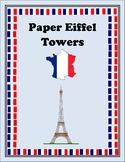 Paper Eiffel Towers