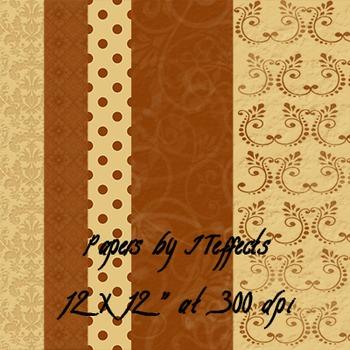 Digital Paper-Elegant Browns