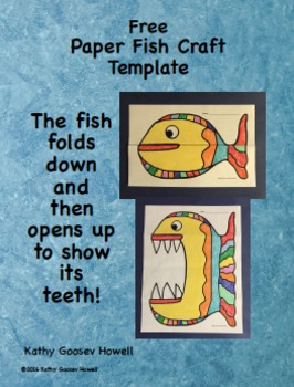 Paper Fish Craft Template - Free