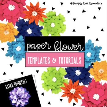 Flower Template Worksheets & Teaching Resources | TpT