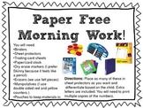 Paper Free Morning Work