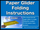 Paper Glider Folding Instructions