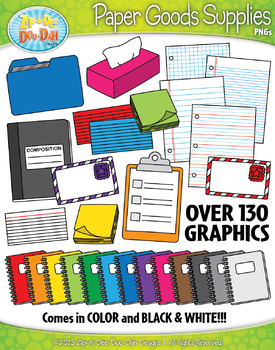 Paper Goods Supplies Clipart {Zip-A-Dee-Doo-Dah Designs}