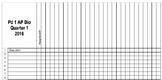Excel Gradebook Sheet Template