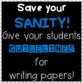 Paper Guidelines: Take the Stress Out of Assigning History Papers