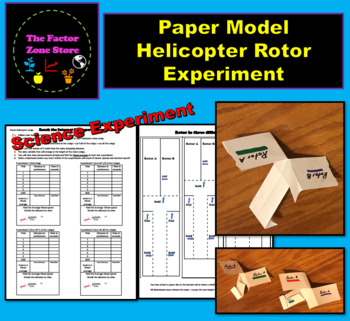Paper Helicopter Rotor Wing Experiment