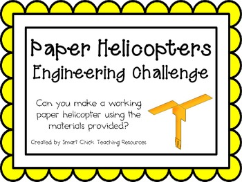 Paper Helicopters: Engineering Challenge Project ~ Great STEM ... on paper helicopter lab activity, paper helicopter lab results, paper airplane lab report,