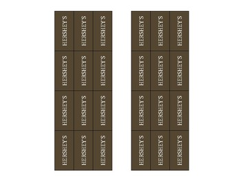 Paper Hershey's Bar for Fraction Activity