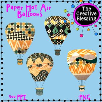 Paper Hot Air Balloon Clip Art