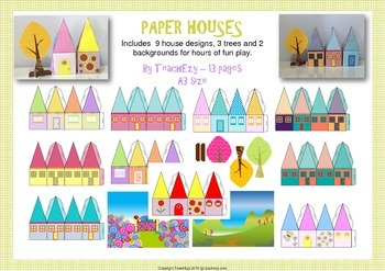Paper Houses for Playtime