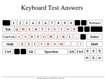 Paper Keyboard Test with Answer Sheet