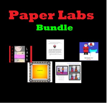 Science Paper Labs Bundle and Sub Plans * No Extra Materia
