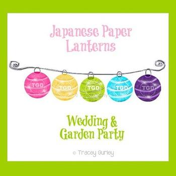 Paper Lanterns -  Wedding Art, Garden Part Art Printable Tracey Gurley Designs