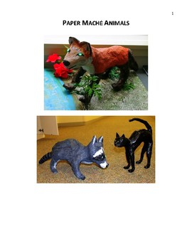 Paper Mache Animals: Grade 5 and Above
