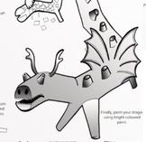 Paper Mache Dragon Worksheet