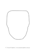 Paper Mayan Mask Template