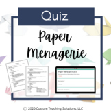 Paper Menagerie Assessment