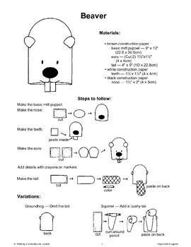 Paper Mitt Puppets: Forest Animals