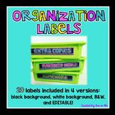 Organization Labels ~ Editable
