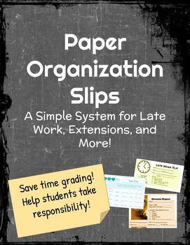 Paper Organization Slip System for Students