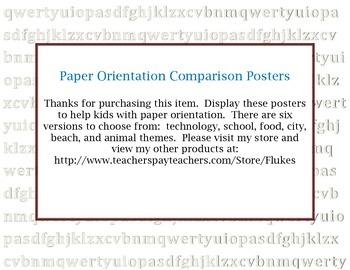 Paper Orientation Comparison Posters