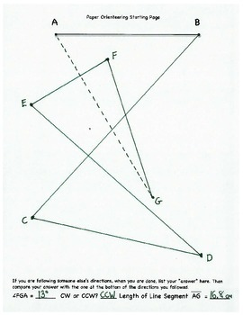 Paper Orienteering, Geometry, Protractor, Angle, Ruler, CW/CCW, Whole Class