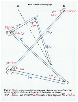 Paper Orienteering, Geometry, Protractor, Angle, Ruler, CW