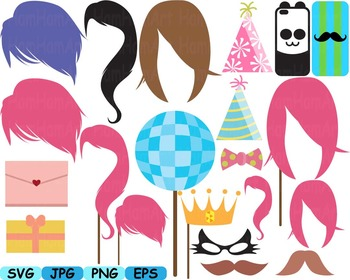 Paper Party Supplies Décor Props sweet 16 sixteen clipart birthday labels -178s