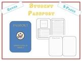 Paper Passport use w Travel Unit Ellis Island, Christmas Around the World, etc.
