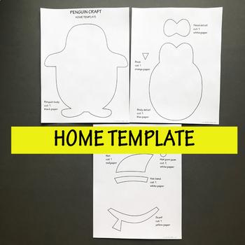 Paper Penguin Craft - Winter Craftivity