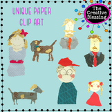 Paper People Clipart