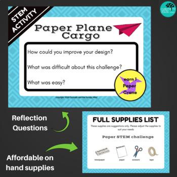 Paper Plane Cargo STEM Challenge