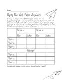 Paper Plane Science Activity