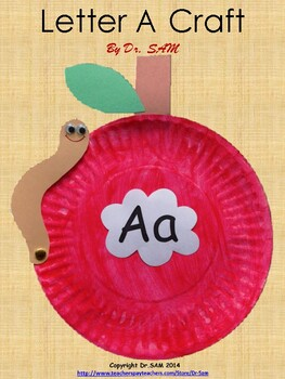 Paper Plate Apple Craft for Letter Aa