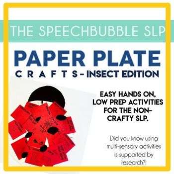 Paper Plate Articulation and Language Activities - Insect Edition