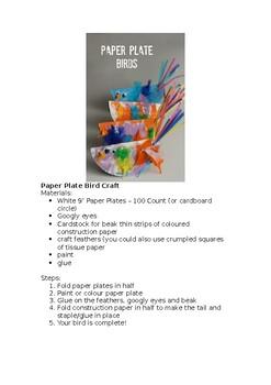 Paper Plate Bird Art