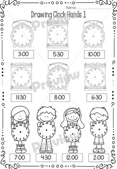 Telling Time Worksheets, Bingo and Clock Templates