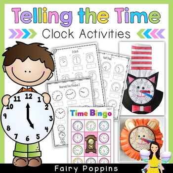 Clock and Time Activities (Paper Plate Clock Craft, Worksh
