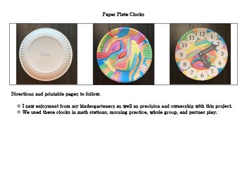 Paper Plate Clock Painting Activity
