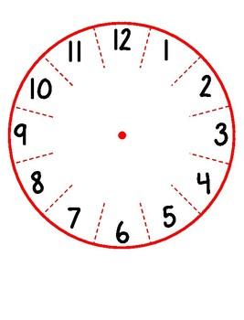 Paper Plate Clock Template  sc 1 st  Teachers Pay Teachers & Paper Plate Clock Template by Caitlin Natale   Teachers Pay Teachers