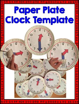 paper plate clock template by caitlin natale teachers pay teachers