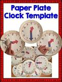 Paper Plate Clock Template
