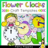 Clock Template - Paper Plate Flower Clock (Freebie)