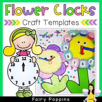 Flower Clock - Paper Plate Template