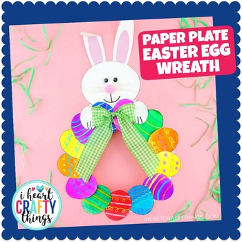 Paper Plate Easter Egg Wreath Fun Easter Craft And Easter Art Project
