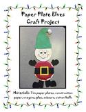 Paper Plate Elf Craft