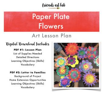 Paper Plate Flowers (Plants, Science, 3-D Art, Multi-Media, Bulletin Boards)
