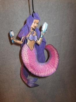 Paper Plate Mermaid Mobile. Fun Craft